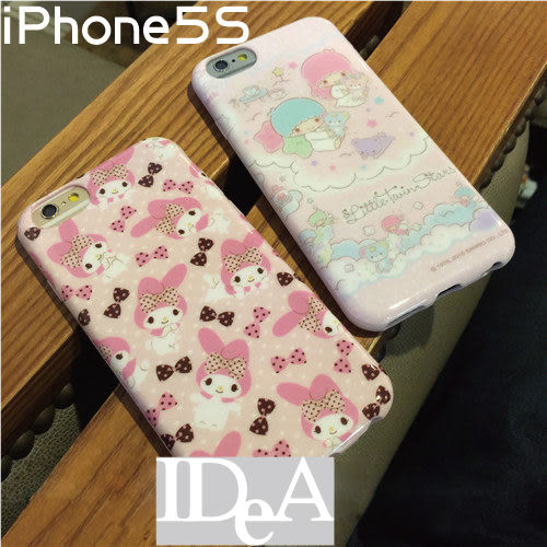 三麗鷗 Sanrio iPhone5S 粉嫩夢幻美樂蒂雙子星大耳狗TPU手機保護套 軟殼 My Melody KiKi LaLa Little Twin Stars