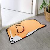 動物造型貝絨吸水防滑地墊腳踏墊-趴睡狗 BUNNY LIFE