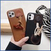蘋果 iPhone 12 Mini iPhone12 Pro 12 Pro Max iPhone 11 Pro Max 皮革腕繩 手機殼 全包邊 軟殼 保護殼