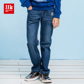 JJLKIDS 男童 小汽車印花刷白牛仔褲(牛仔藍)
