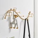 北歐創意輕奢鐵藝掛鉤鑰匙掛架入戶門口牆上裝飾試衣間衣帽鉤壁掛 NMS創意新品