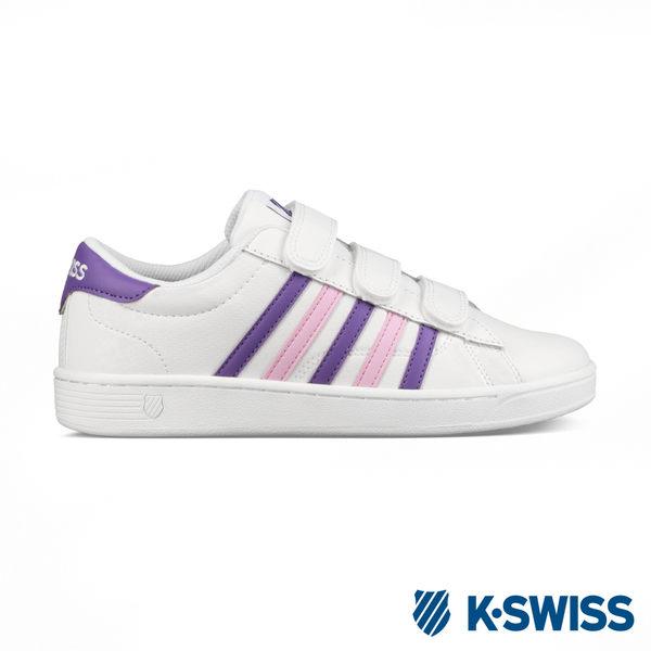 K-swiss Hoke III Strap CMF休閒運動鞋-女-白/紫/粉紅