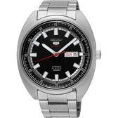 SEIKO精工 5號24石盾牌機械手錶(SRPB19J1)-黑/44mm 4R36-05Y0D