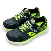 LIKA夢 LOTTO 21cm-24.5cm微重力輕量跑鞋 SUPERLIGHT ZERO系列 黑螢綠 6350 大童
