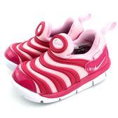 《7+1童鞋》小童 NIKE DYNAMO FREE 輕量毛毛蟲鞋 運動鞋 學步鞋  F818  桃色