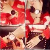 手錶女士學生韓版時尚潮流防水簡約復古男錶鋼帶女錶情侶手錶一對 檸檬衣捨