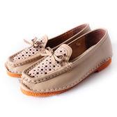 DeSire  簡約知性蝴蝶結水鑽休閒鞋  -米