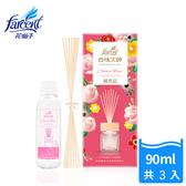 【花仙子】去味大師竹木香補充品90ml-3入-古典玫瑰
