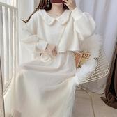 網紗裙 毛呢外套網紗裙吊帶長裙連衣裙子女春裝2021新款兩件套裝裙冬裙【快速出貨八折鉅惠】