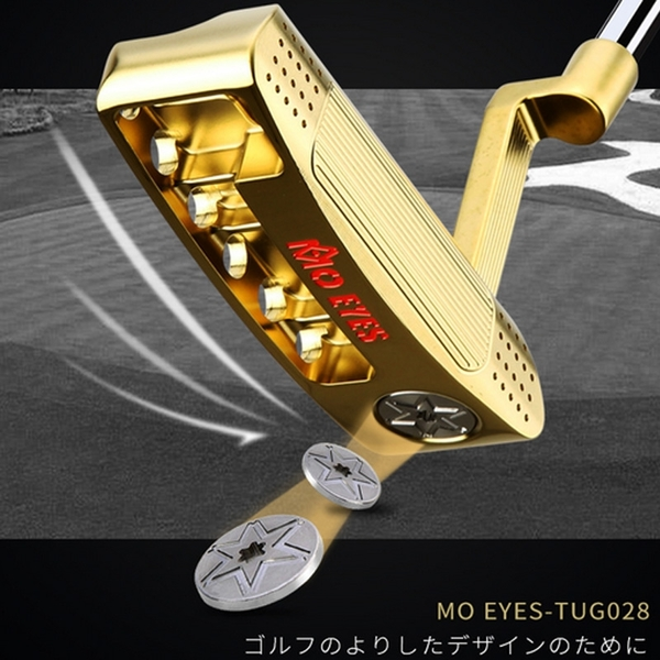 POSMA PGM 高爾夫球桿 比賽球桿 推桿 金色 TUG028-GOL