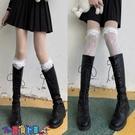 中筒襪襪子女長筒蕾絲花邊襪子女薄洛麗塔白色可愛jk中筒襪ins潮小腿襪白絲襪【寶貝 新品】