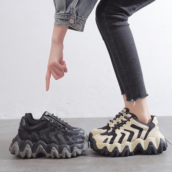 加絨運動老爹鞋女2020冬季新款百搭秋冬黑色女鞋網紅鞋子ins潮鞋 蘿莉小腳丫