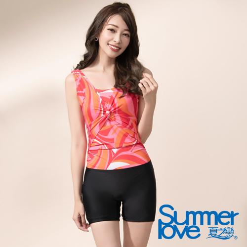 【Summer Love 夏之戀】夏日亮彩連身四角泳衣(E17795)