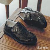 兒童小皮鞋 男童校園單鞋皮鞋黑色英倫風兒童小學生演出鞋小皮鞋 QQ6723『東京衣社』