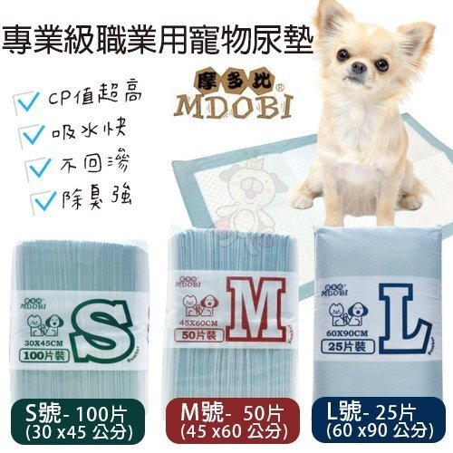 *WANG*【單包】MDOBI摩多比 專業級職業用寵物尿墊 寵物尿布/尿片三種尺寸 裸包