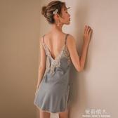 吊帶睡裙女士睡衣性感火辣冰絲情趣女人睡衣性感 挑逗床上日式 完美情人