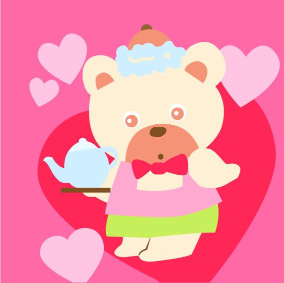 【DR091】可愛熊 DIY 數字 油畫 彩繪
