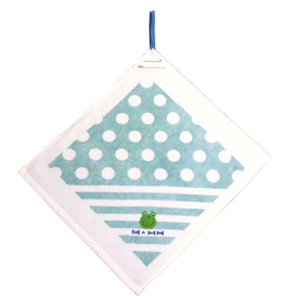 【日本製】【Rub a dub dub】掛式刺繡圖案毛巾 青蛙圖案(一組:5個) SD-9164 - Rubadubdub