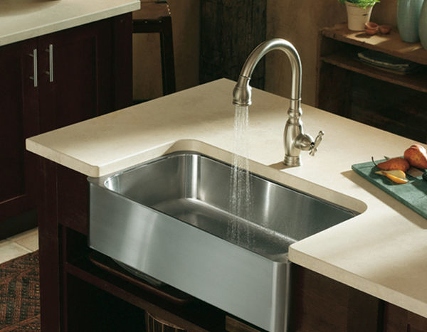 【 麗室衛浴】 美國KOHLER Verity 半崁式不鏽鋼水槽 K-3086T-NA