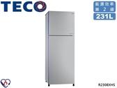 ↙0利率↙TECO 東元 231公升 2級能效 環保冷媒 節能標章 變頻雙門冰箱 R2308XHS【南霸天電器百貨】