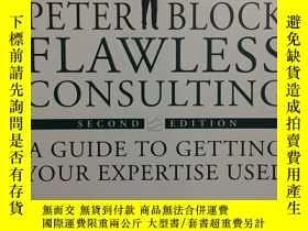 二手書博民逛書店PETER罕見BLOCK FLAWLESS CONSULTING