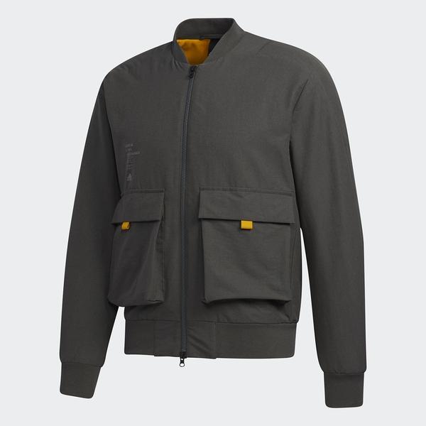 【現貨】Adidas BOMBER 男裝 外套 休閒 飛行外套 大口袋 刷毛 灰綠【運動世界】GM4405