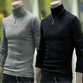 秋季男士韓版修身高領針織打底衫薄款