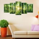 綠色森林壁貼 5入 3D立體壁貼 貼紙 假窗壁紙 沂軒精品 E0062 台灣現貨