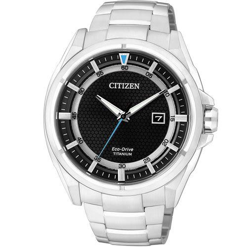 星辰 CITIZEN 科技領袖【鈦】時尚腕錶 AW1401-50E 黑