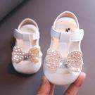 女童涼鞋 女童涼鞋夏季新款時尚蝴蝶結公主鞋小童寶寶軟底學步鞋-Ballet朵朵