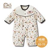 連身衣 新生兒服【GD0035】DL可愛圖案滿印連身衣 新生兒服 兔裝  媽媽寶寶童裝 (60-70))