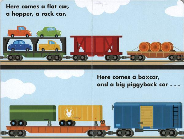 CP值超高【交通工具認知讀本】HELLO FREIGHT TRAIN /讀本厚紙版《主題: 火車》
