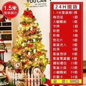 聖誕樹現貨 24H速出 1.5米鬆針聖誕樹套餐豪華加密裝飾聖誕樹聖誕節裝飾品 DF