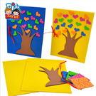 母親節創意手工EVA愛心賀卡 MEIKE節日粘貼手工DIY送給老師的禮物(隨機出貨)─預購CH5124