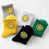 儿童袜子1-12岁秋冬厚款宝宝袜男童女童笑脸中筒学生袜