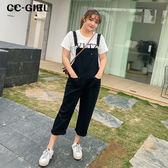 中大尺碼  黑色吊帶背心長褲 - 適XL~4L《 68029HH 》CC-GIRL