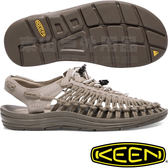 KEEN 1017882淺灰 Uneek Leather女戶外編織涼鞋 水陸兩用繩編鞋/運動健走鞋/沙灘護趾拖鞋