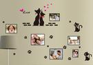 創意壁貼『Loxin貓咪相框照片牆』相框牆 相片牆