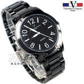 valentino coupeau 范倫鐵諾 都會風格數字錶 不鏽鋼 男錶/中性錶/學生錶 IP黑色 數字錶 V61269槍黑