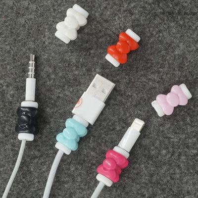 88柑仔店~ 蘋果iphone6plus/5S手機數據線頭保護套蝴蝶節線套耳機線保護外殼