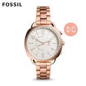 ↖400折價券 現領現折↘ FOSSIL Q Accomplice 玫瑰金輕薄款不鏽鋼指針式智慧手錶 女