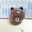 【震撼精品百貨】LINE FRIENDS_兔兔、熊大~充電器-立體造型插頭-熊大圖案