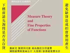 二手書博民逛書店Measure罕見Theory And Fine Properties Of Functions (studies