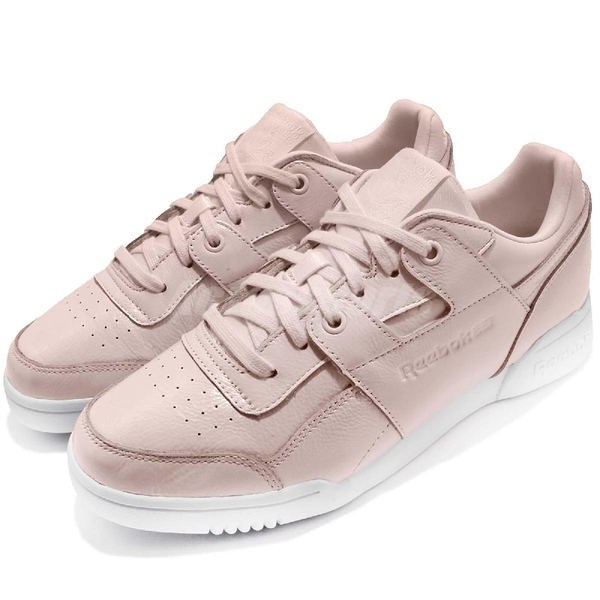 Reebok 休閒鞋 Workout LO Plus Iridescent 粉紅 白 女鞋 皮革鞋面 復古 基本款【ACS】 CM8951