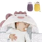 嬰兒抱被 感溫新生兒睡袋 防驚嚇襁褓純棉動物包巾-JoyBaby