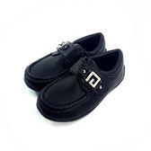 經典圓楦 皮面 小紳士皮鞋《7+1童鞋》A375黑色