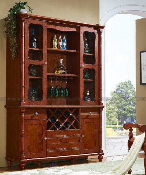 [紅蘋果傢俱] T8920 歐式全實木系列四門酒櫃 數千坪展示