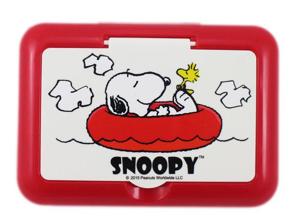【卡漫城】 Snoopy 美妝鏡盒 紅 ㊣版 鏡子 + 面紙盒 台灣製 史努比 史奴比 糊塗塔克 花生漫畫 硬盒