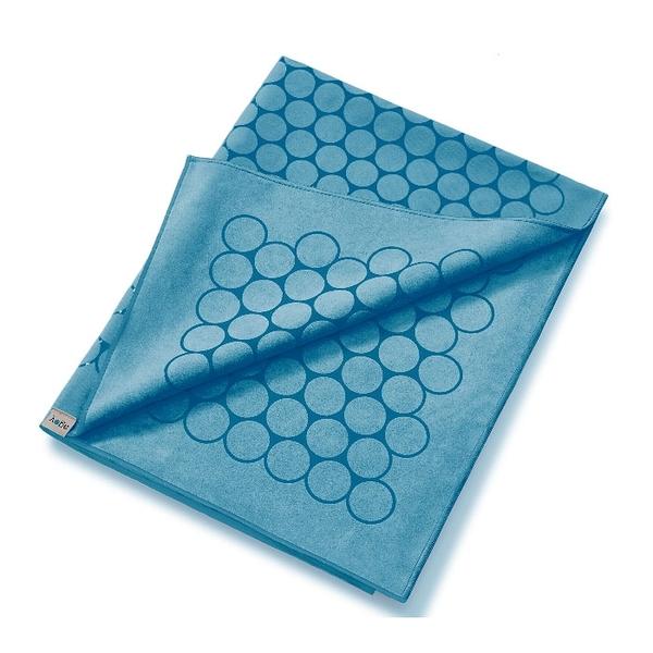 Agoy 瑜珈鋪巾 壁虎鋪巾抗菌銀離子(圈圈款) - 海洋藍 (送防水收納袋)