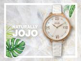 【時間道】NATURALLY JOJO  俏麗晶鑽羅馬刻仕女腕錶 / 白貝面玫瑰金殼白陶(JO96923-81R)免運費